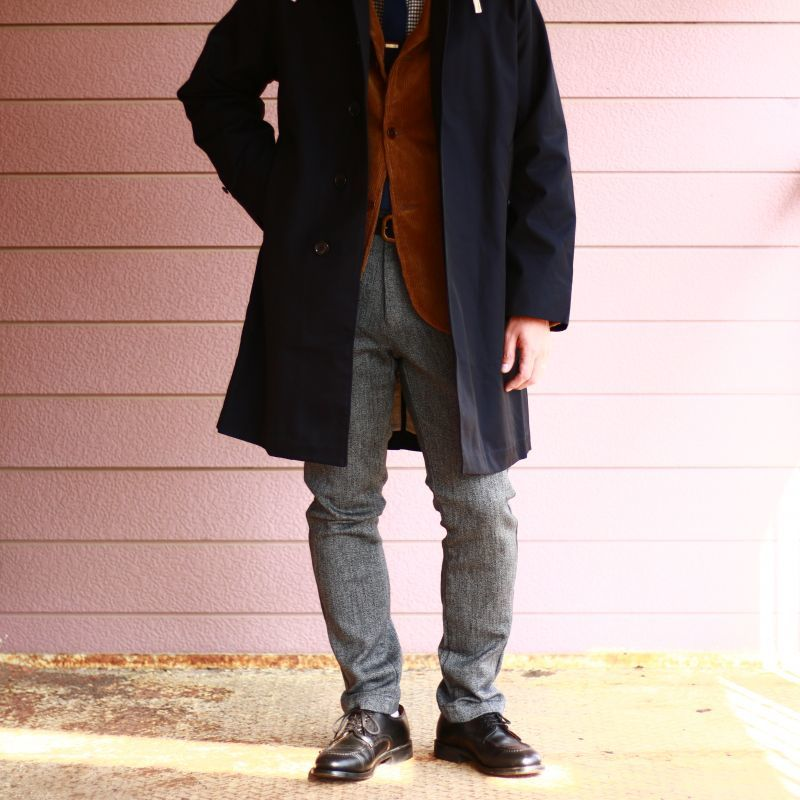 WORKERS ワーカーズ Bal Collar Coat Gabardine, Navy バルカラーコート ギャバジン ネイビー