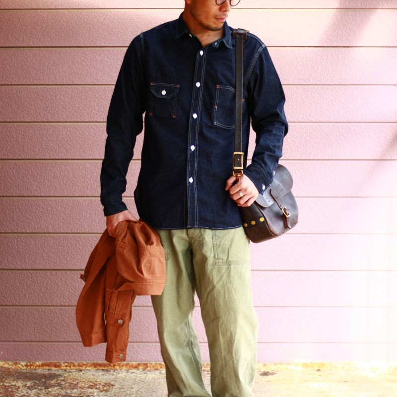 TCB jeans TCBジーンズ Catlight Shirts Denim キャットライトシャツ デニム