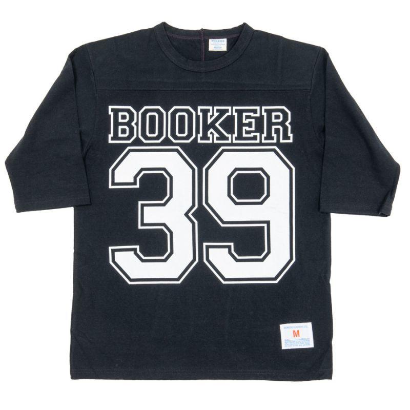 WORKERS ワーカーズ Football-T, 39, Black プリントフットボールTee ブラック
