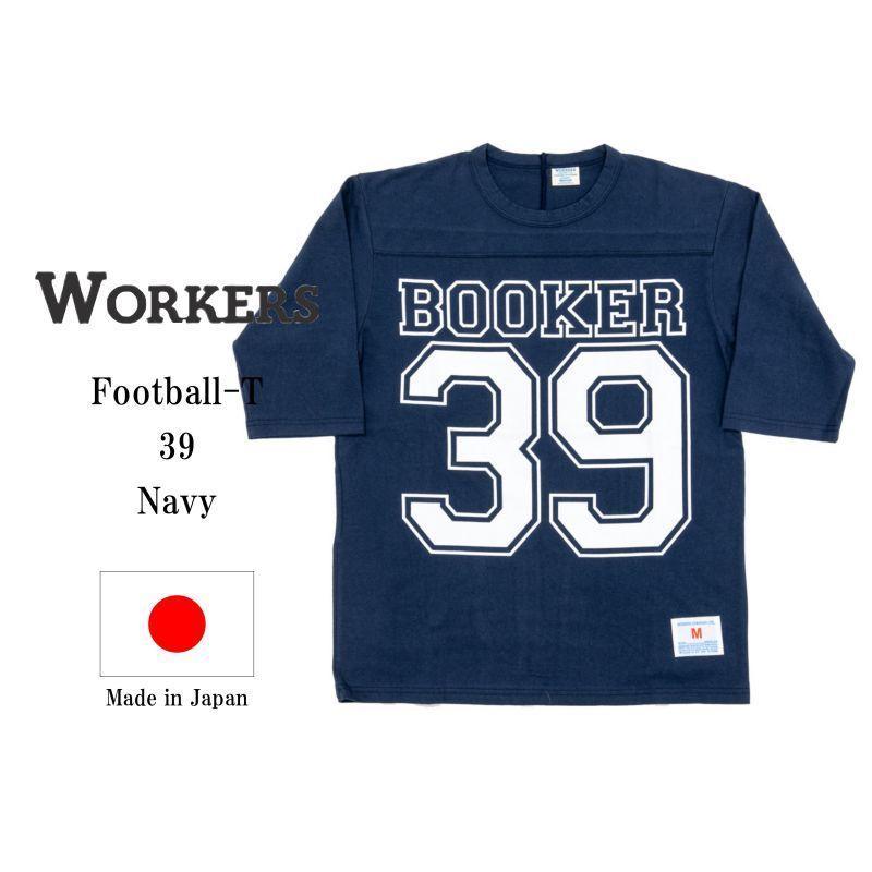 WORKERS ワーカーズ Football-T, 39, Navy プリントフットボールTee ネイビー