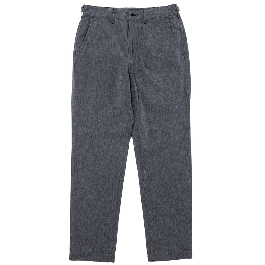WORKERS ワーカーズ FWP Trousers, Standard-Fit, Black Chambray FWPトラウザー スタンダードフィット ブラックシャンブレー