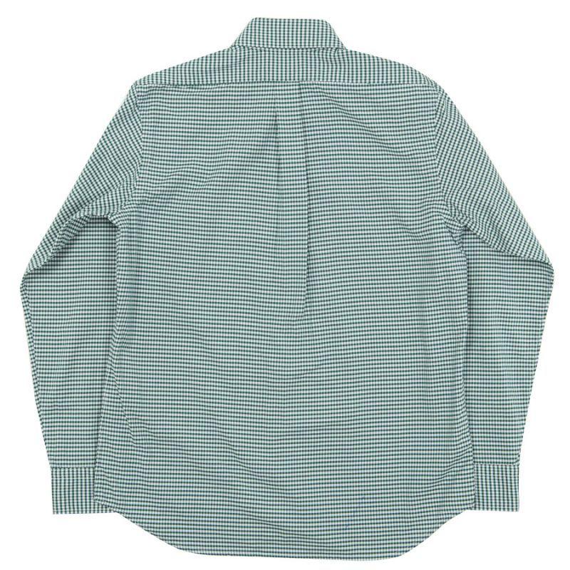 WORKERS ワーカーズ Pinhole Shirt, Green Check Oxford ピンホールシャツ グリーンチェックオックスフォード