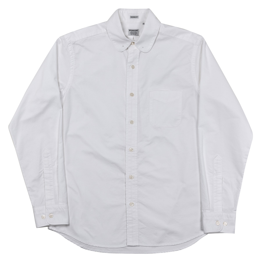 WORKERS ワーカーズ Pinhole Shirt, White Supima Oxford ピンホールシャツ ホワイトスーピマオックスフォード
