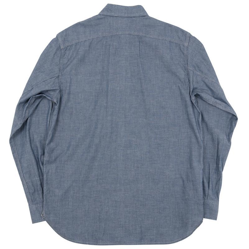 WORKERS ワーカーズ Lt Work Shirt, Lt Chambray, Stripe ライトワークシャツ ライトシャンブレーストライプ