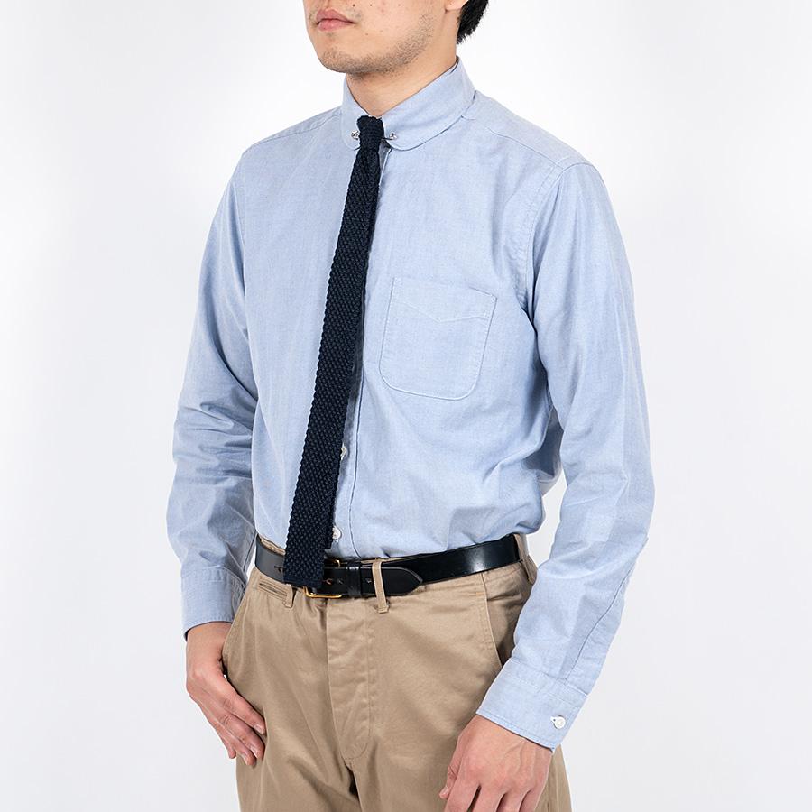 WORKERS ワーカーズ Pinhole Shirt, Blue Supima Oxford ピンホールシャツ ブルースーピマオックスフォード
