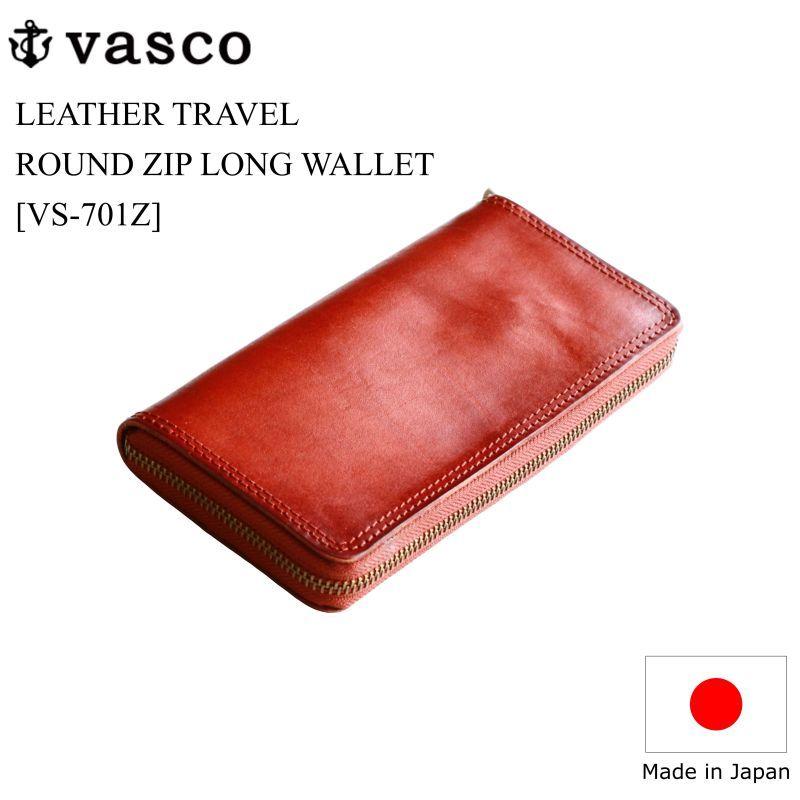 vasco ヴァスコ LEATHER TRAVEL ROUND ZIP LONG WALLET レザートラベルラウンドジップロングウォレット