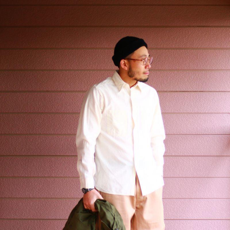 Buzz Rickson's バズリクソンズ WHITE CHAMBRAY WORK SHIRT ホワイトシャンブレー ワークシャツ