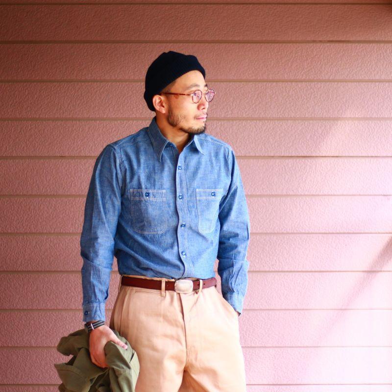 Buzz Rickson's バズリクソンズ BLUE CHAMBRAY WORK SHIRT ブルーシャンブレー ワークシャツ