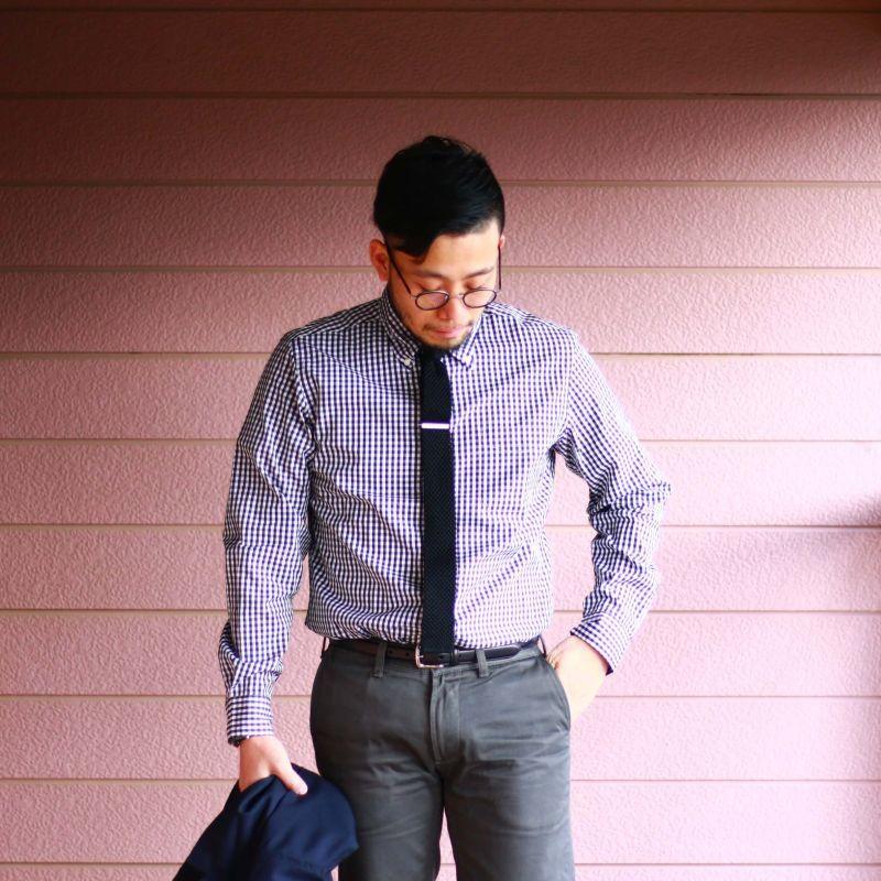 SONTAKU ソンタク Broad cloth BD Shirts ブロードクロスボタンダウンシャツ ブラックギンガム