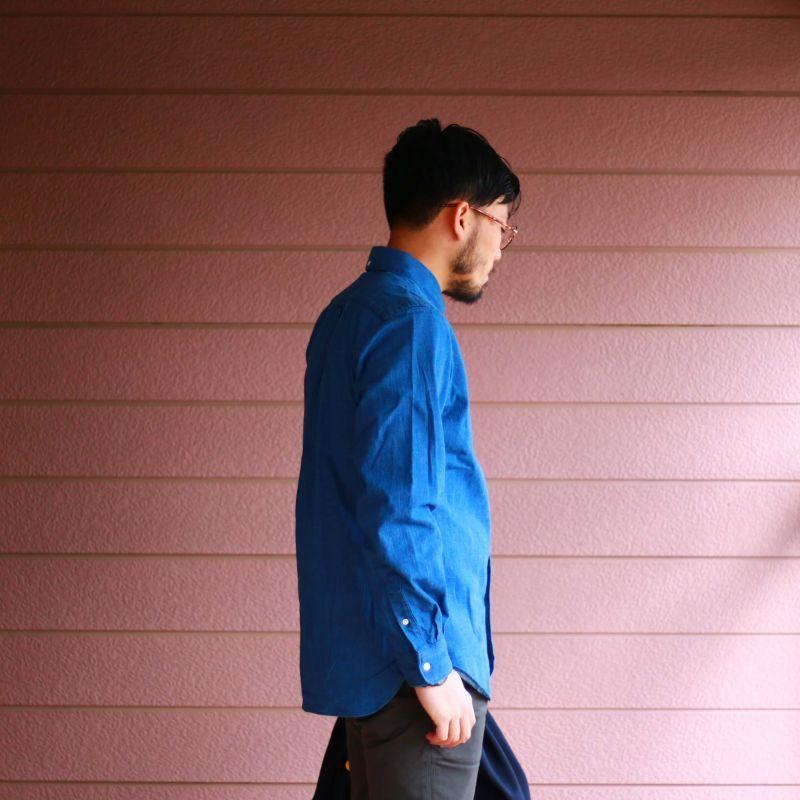 SONTAKU ソンタク DENIM B.D SHIRT デニムボタンダウンシャツ ライトインディゴ