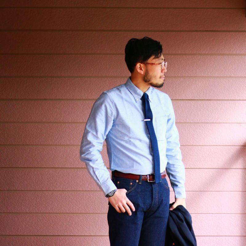SONTAKU ソンタク Oxford b.d shirt オックスフォードボタンダウンシャツ サックス