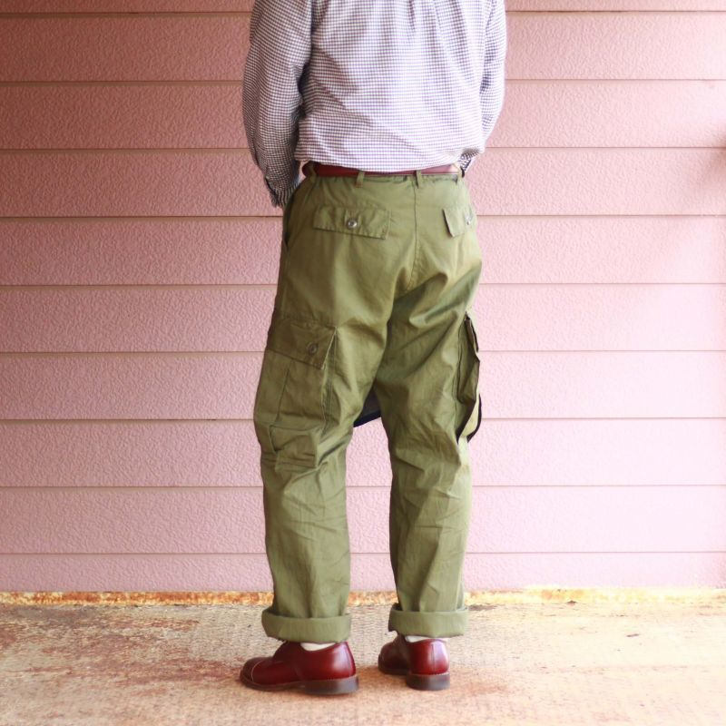 Buzz Rickson's バズリクソンズ TOROUSERS,MEN'S COTTON WIDE RESISTANT POPLIN OLIVE GREEN ARMY SHADE 107 ジャングルファティーグパンツ 初期型