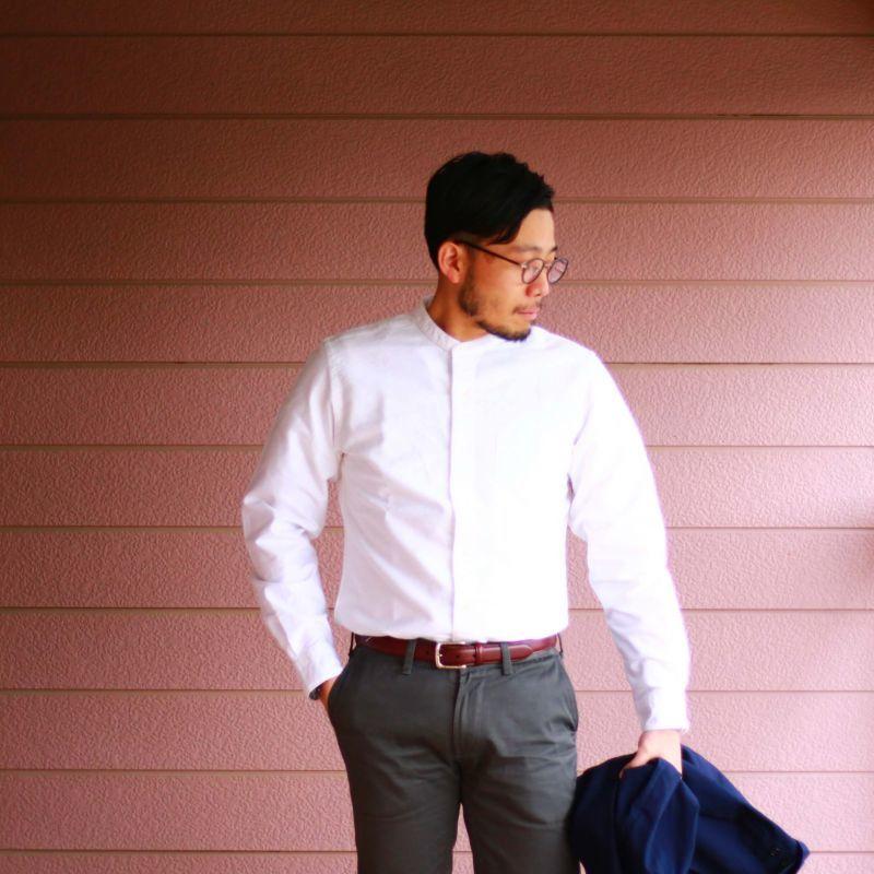 SONTAKU ソンタク BAND COLLAR SHIRT オックスフォードバンドカラーシャツ