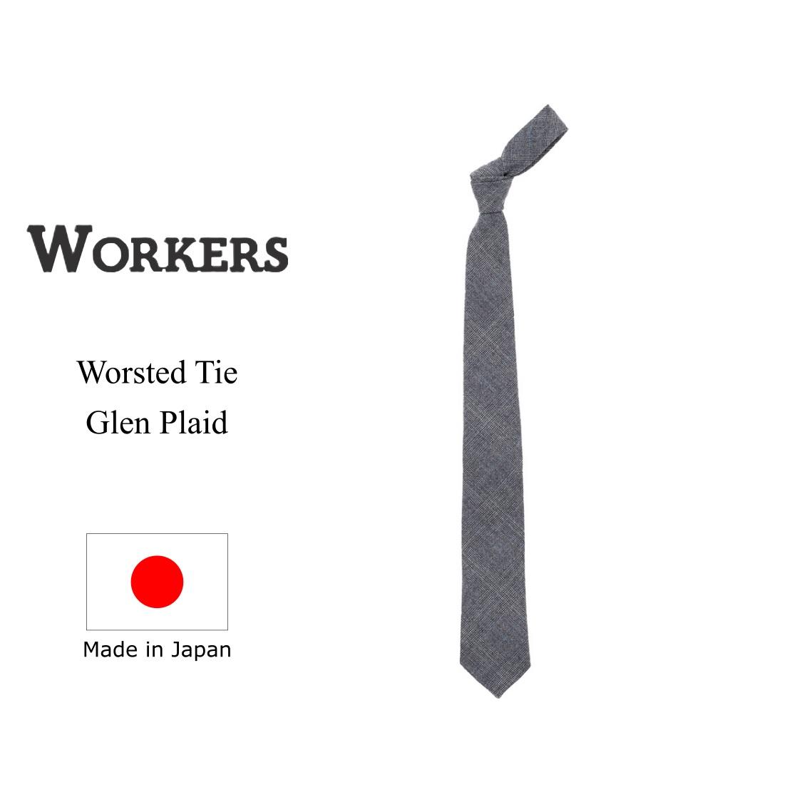 WORKERS ワーカーズ Worsted Tie ウーステッドタイ Glen Plaid