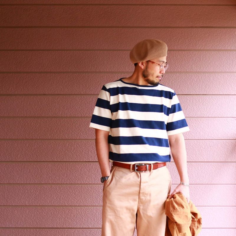 Tieasy Authentic Classic ティージー オーセンティック クラシック HDCS BOATNECK S/S BASQUE SHIRT S/Sボートネックバスクシャツ