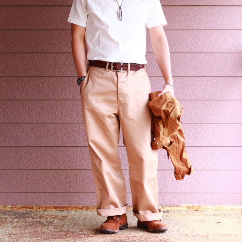 BARNS OUTFITTERS バーンズアウトフィッターズ VINTAGE HENLY NECK S/S TEE ヴィンテージヘンリーネックTee