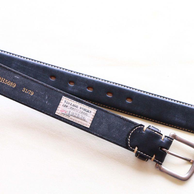 Vintage Works ヴィンテージワークス Leather belt 5Hole 5ホール レザーベルト ブラック DH5689