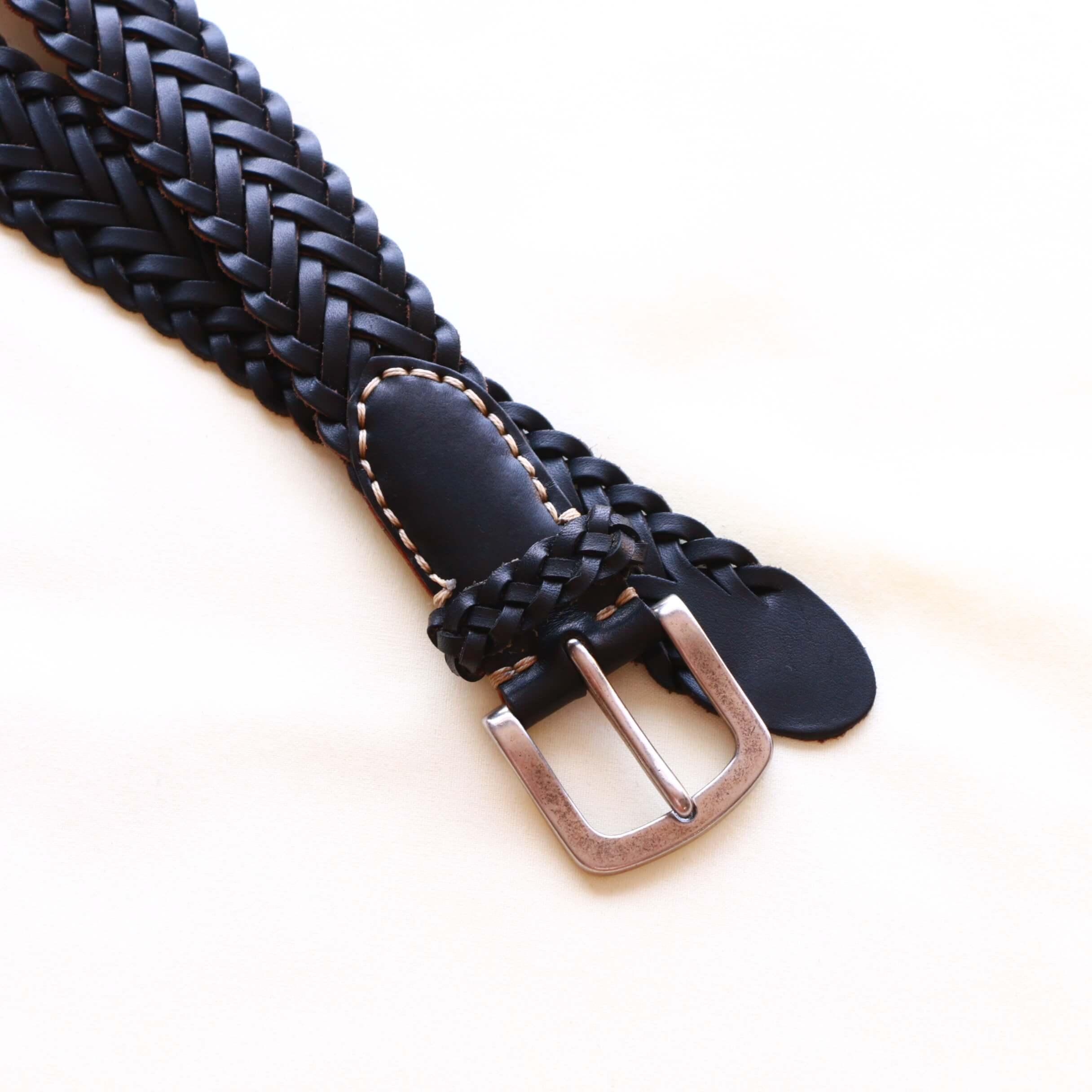 Vintage Works ヴィンテージワークス Leather belt レザーメッシュベルト DH5708