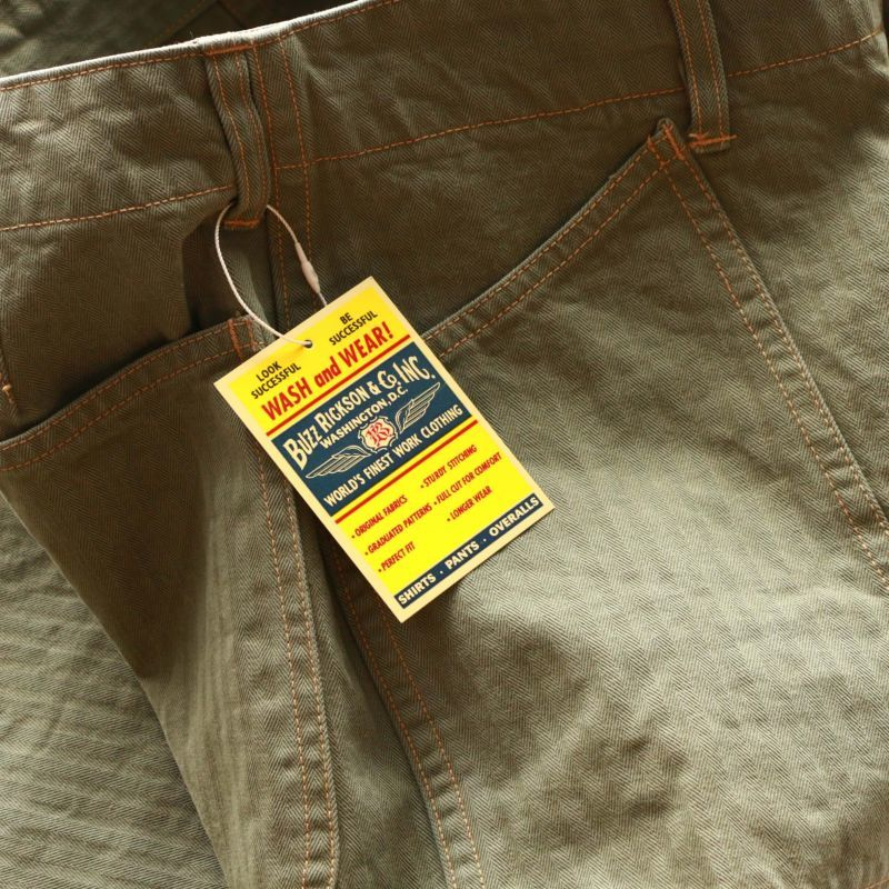 Buzz Rickson's バズリクソンズ HERRINGBONE U.S. MARINE COOP PANTS EARLY MODEL USMC ヘリンボーンパンツ 初期型