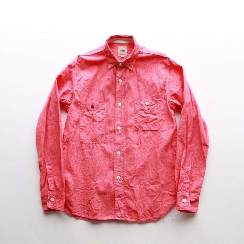 FOB FACTORY エフオービーファクトリー CHAMBRAY WORK SHIRTS シャンブレーワークシャツ F3166