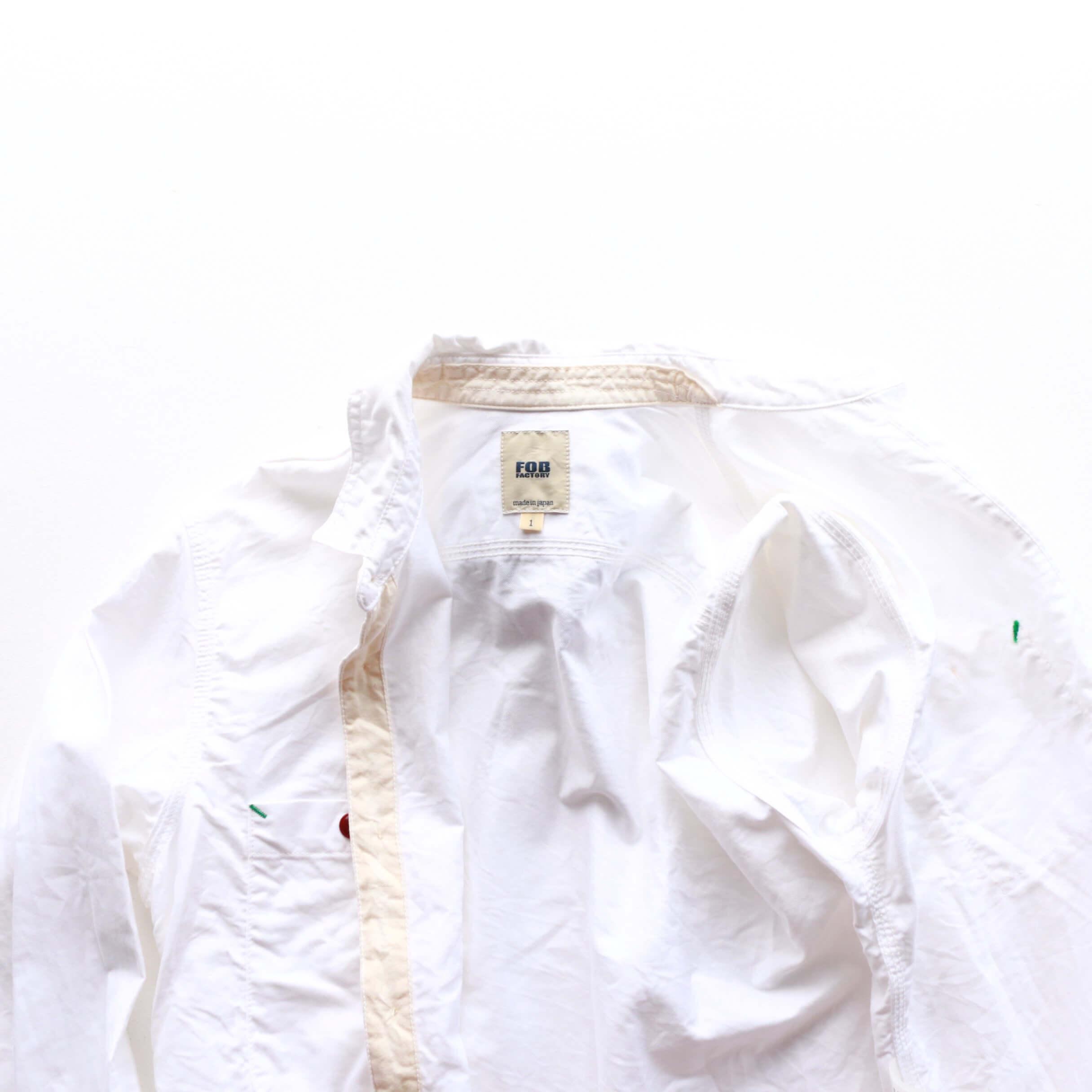 FOB FACTORY エフオービーファクトリー ROYAL OXFORD WORK SHIRTS ロイヤルオックスフォードワークシャツ F3193