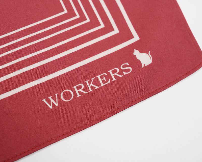 WORKERS ワーカーズ Cotton Sateen Scarf, コットンサテンスカーフ