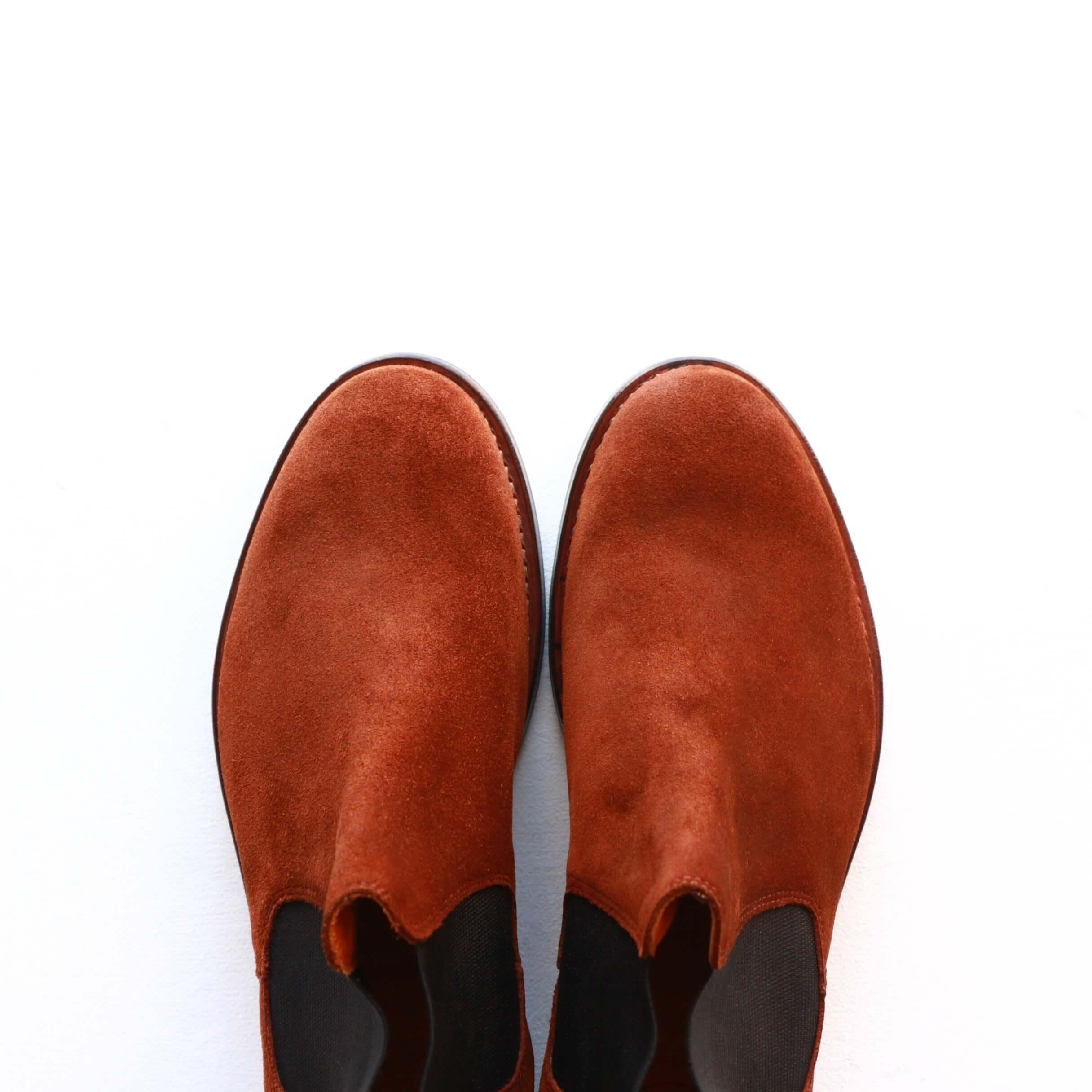 WHEEL ROBE ウィールローブ ELASTIC SIDE BOOTS Charles F.Stead Suede models Last #1228 エラスティックサイドゴアブーツ OLD SNUFF
