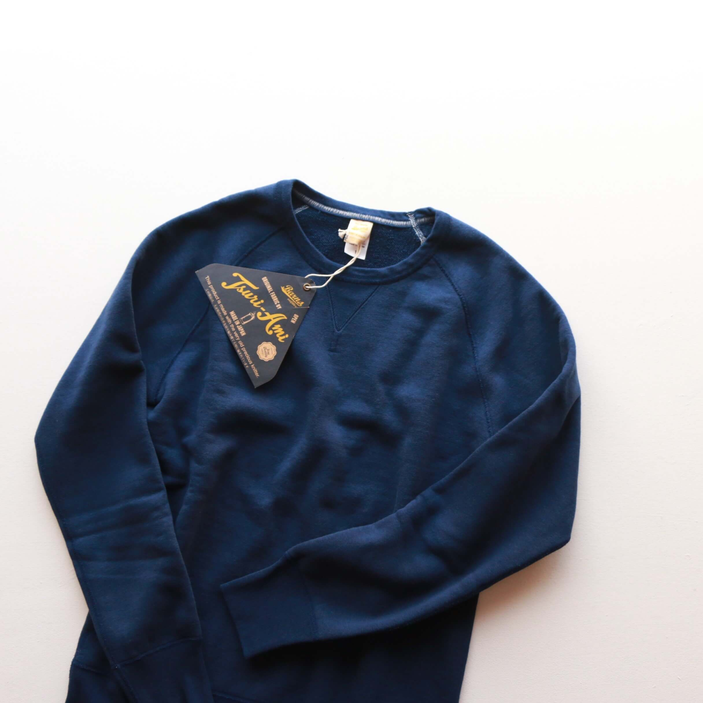 BARNS OUTFITTERS バーンズアウトフィッターズ TSURI-AMI RAGLAN L/S CREW SWEAT 吊り編みスウェットシャツ