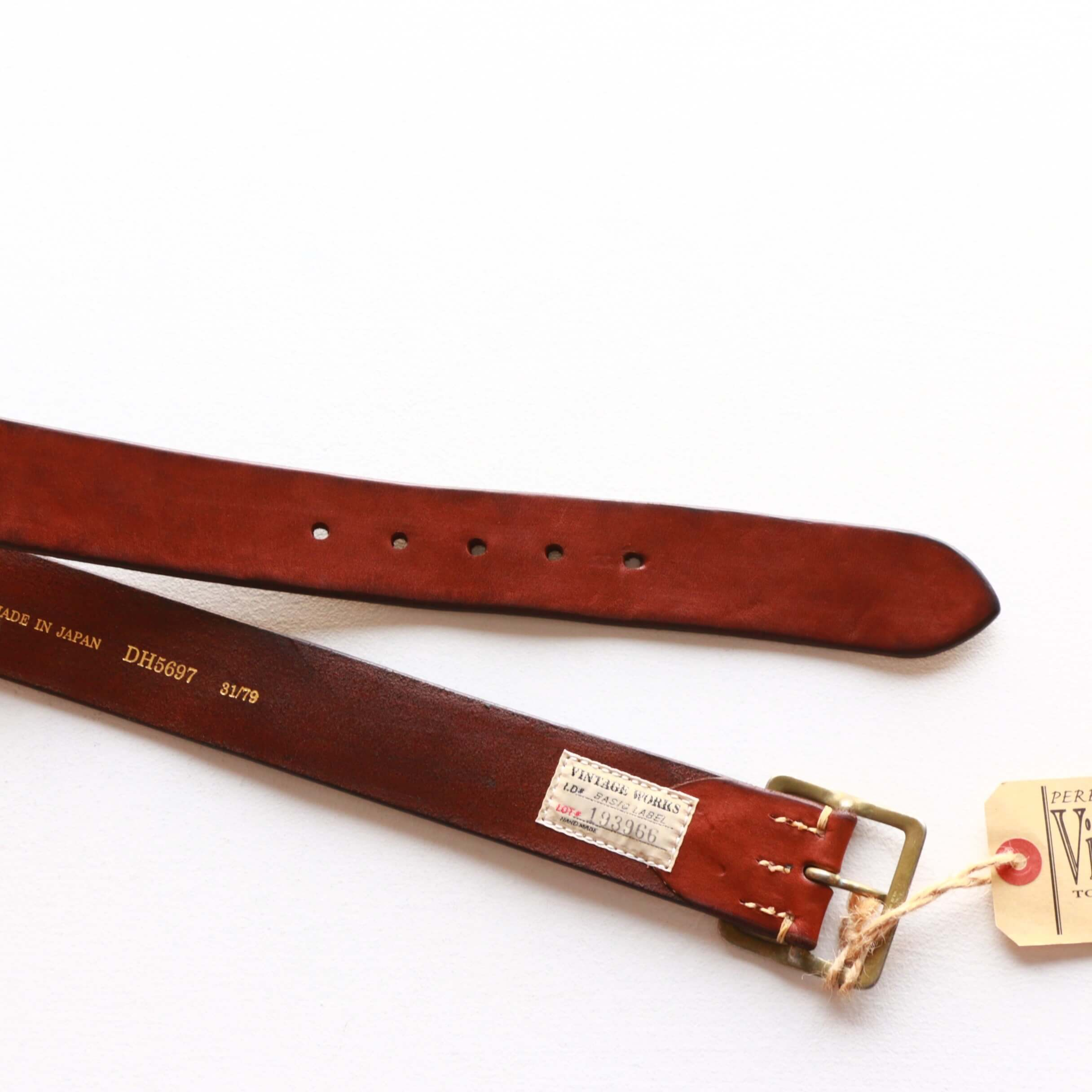 Vintage Works ヴィンテージワークス Leather belt 5Hole レザーベルト 5ホール DH5697