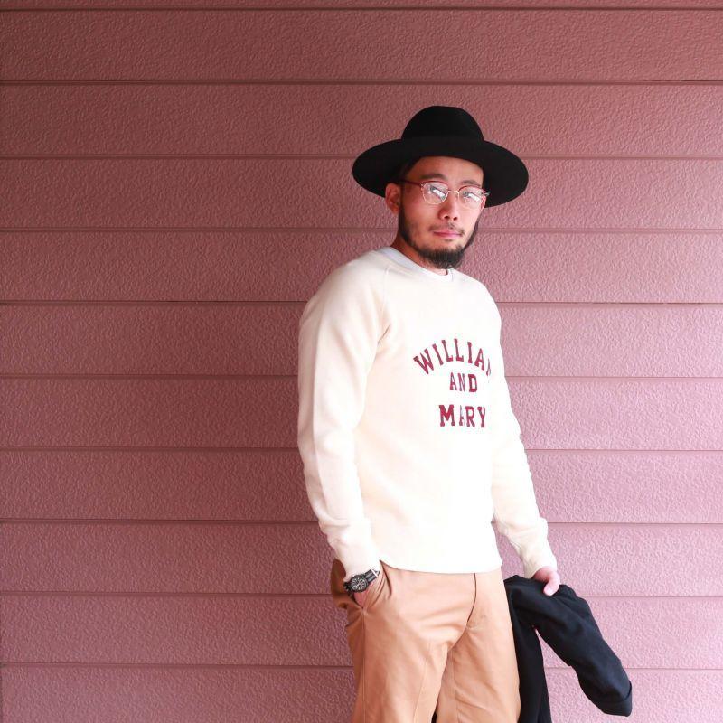 BARNS OUTFITTERS バーンズアウトフィッターズ TSURI-AMI RAGLAN L/S CREW PRINT SWEAT 吊り編みプリントスウェットシャツ