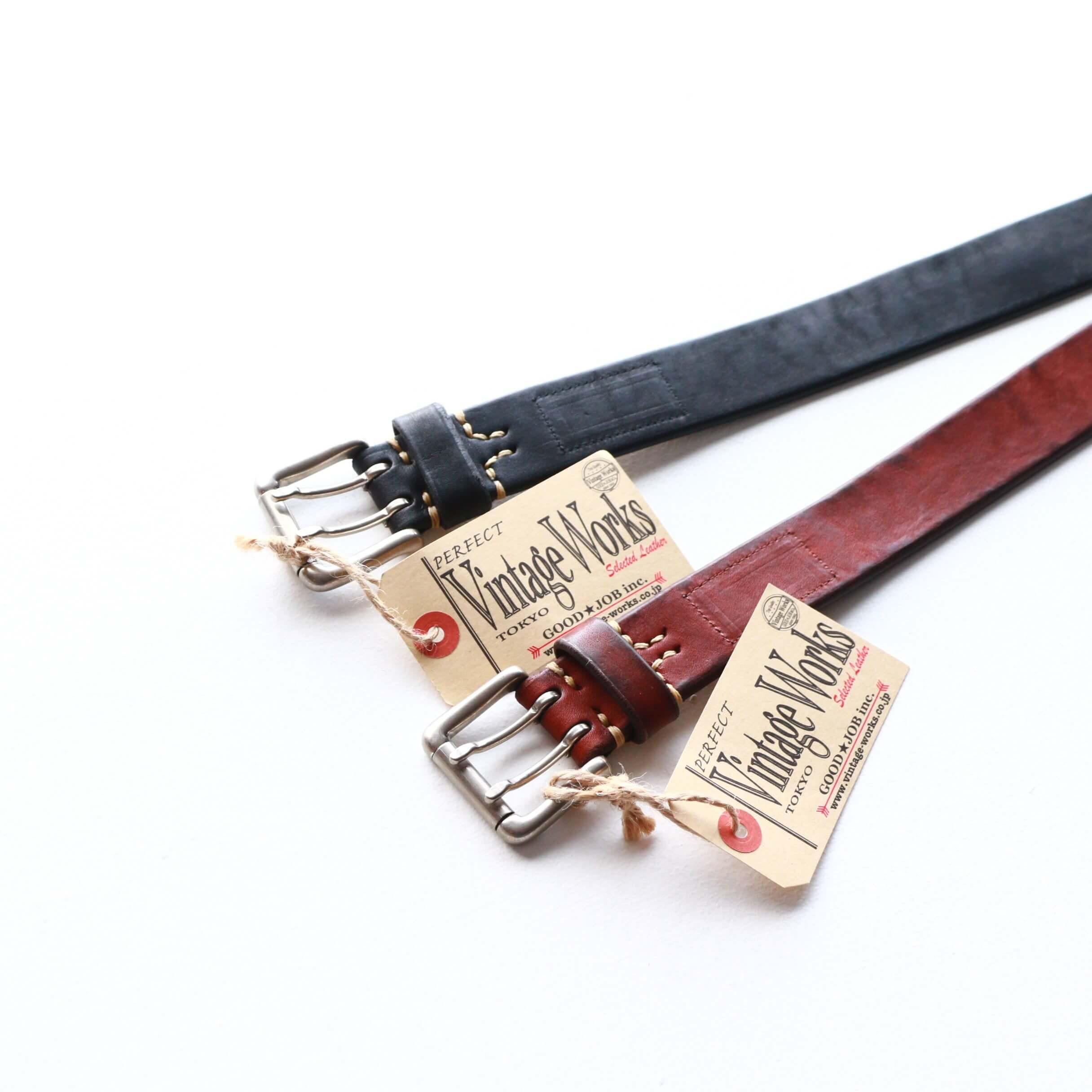 Vintage Works ヴィンテージワークス Leather belt 7Hole レザーベルト 7ホール DH5728