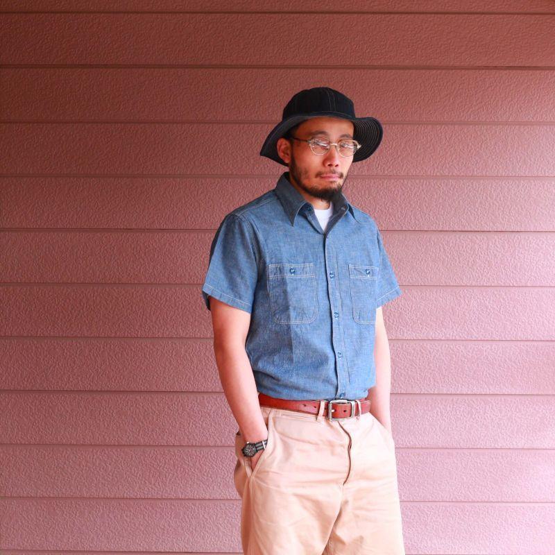 Buzz Rickson's バズリクソンズ BLUE CHAMBRAY S/S WORK SHIRT シャンブレーワークシャツ ブルー BR35856