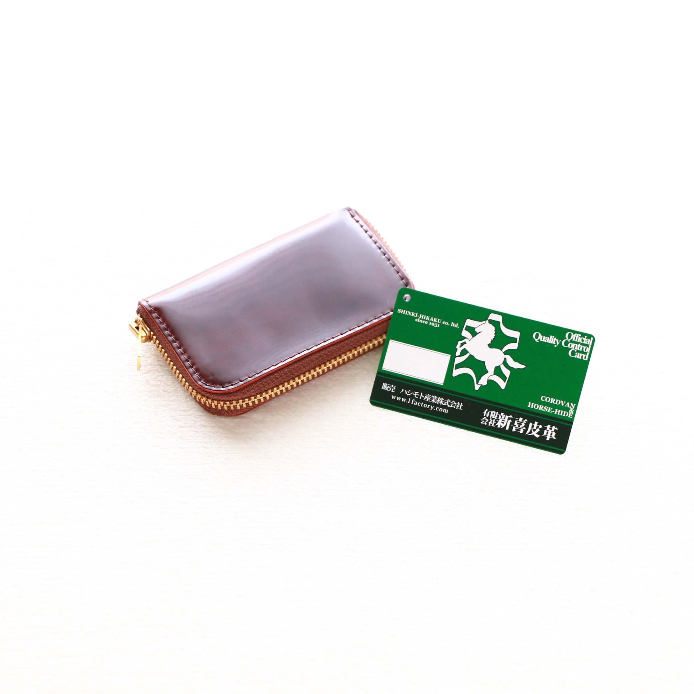 Master Hand マスターハンド Cordovan Round Zip Mini Wallet コードバン ラウンドジップ ミニ ウォレット