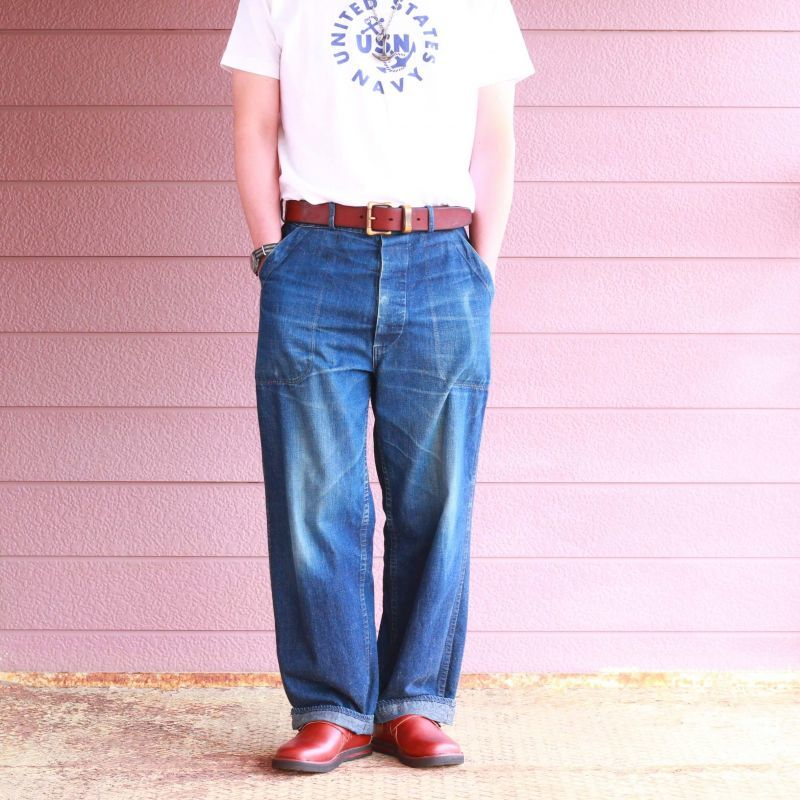 Buzz Rickson's バズリクソンズ SLUB YARN T-SHIRT UNITED STATES NAVY スラブ プリントTEE ホワイト