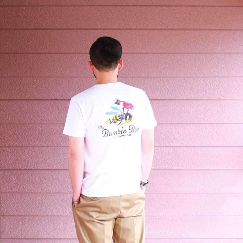 Buzz Rickson's バズリクソンズ S/S T-SHIRT 21st BOMB SQ.THE Bumble Bee プリントTシャツ