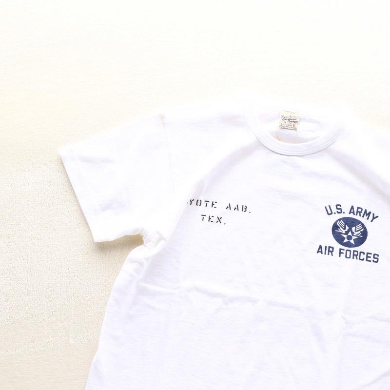 Buzz Rickson's バズリクソンズ SLUB YARN T-SHIRT U.S. ARMY AIR FORCES スラブ プリントTシャツ ホワイト