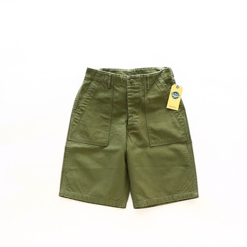 Buzz Rickson's バズリクソンズ TROUSERS MEN'S COTTON SATEEN OLIVE GREEN QM SHADE 107,TYPE I,CLASS SHORTS ベイカーショーツ