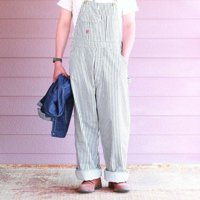 TCB jeans TCBジーンズ Wrecking Crew Pants 10oz White Hickory Stripe レッキングクルーパンツ ホワイトヒッコリーストライプ
