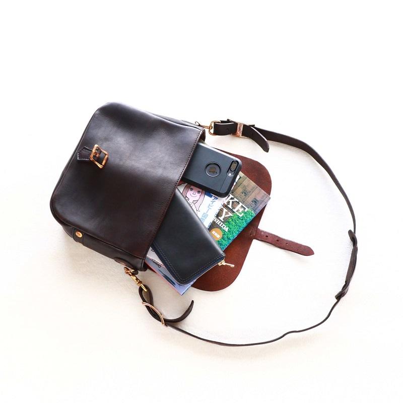 vasco ヴァスコ LEATHER POSTMAN SHOULDER BAG SMALL レザーポストマンショルダーバッグ スモール 刻印ナシ VS-249L