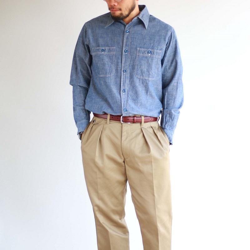 Buzz Rickson's バズリクソンズ BLUE CHAMBRAY WORK SHIRT ブルーシャンブレー ワークシャツ BR25995