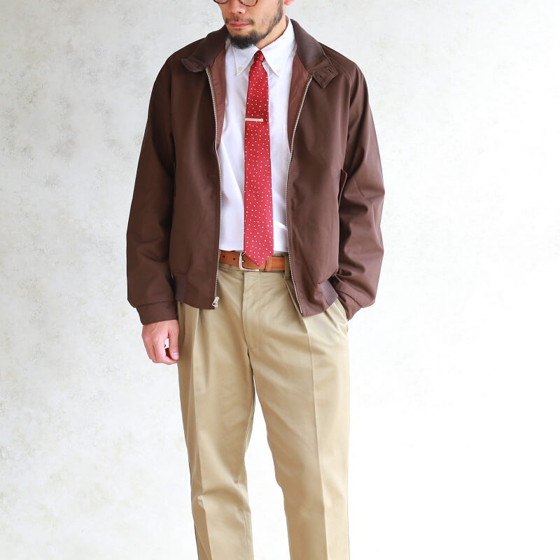 WORKERS ワーカーズ Silk Tie シルクタイ Burgundy Star Dot