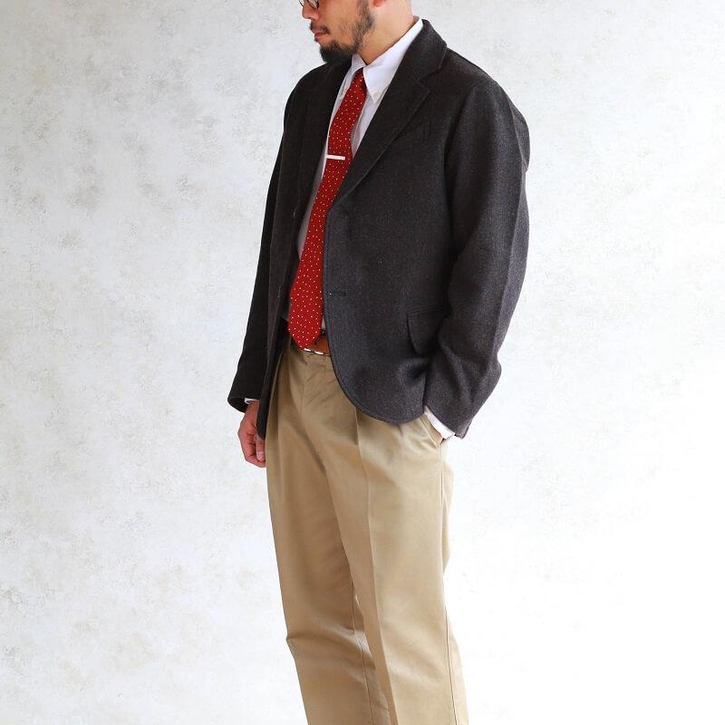 WORKERS ワーカーズ Moonglow Jacket ムーングロージャケット Dark Brown Herringbone Tweed