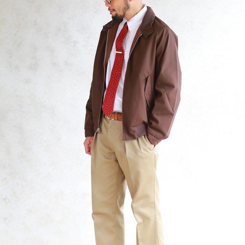 WORKERS ワーカーズ Harrington Jacket ハリトンジャケット Cotton Poly Gabardine Brown