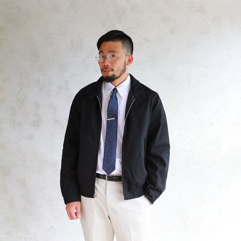 WORKERS ワーカーズ Silk Tie シルクタイ Navy Star Dot