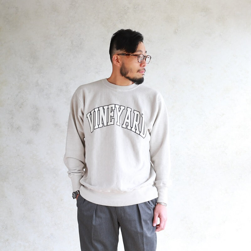 BARNS OUTFITTERS バーンズアウトフィッターズ VINEYARD PRINT SWEAT SHIRTS プリントスウェット