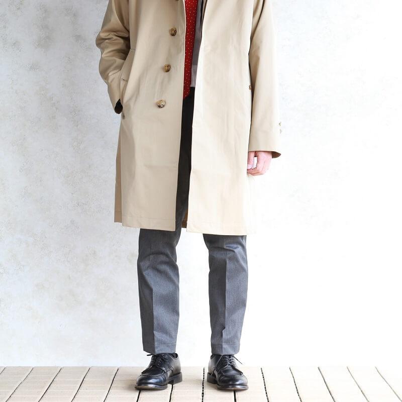 WORKERS ワーカーズ Bal Collar Coat Gabardine, Beige