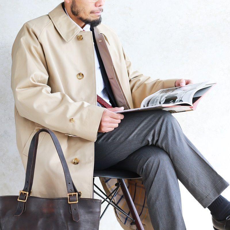 WORKERS ワーカーズ Bal Collar Coat バルカラーコート Cotton Gabardine, Beige