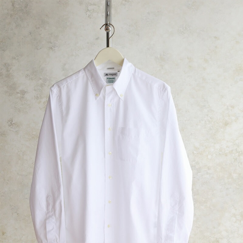 別注 WORKERS ワーカーズ Modified BD モディファイドボタンダウンシャツ White 100/2 Poplin Thomas Mason トーマスメイソン