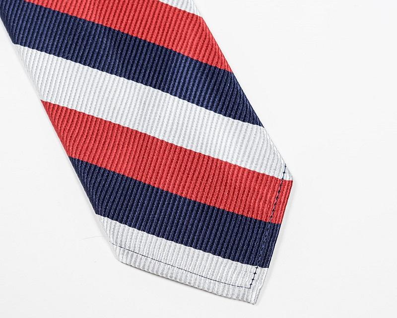 WORKERS ワーカーズ Silk Repp Tie シルクレップタイ Red-Navy-Silver