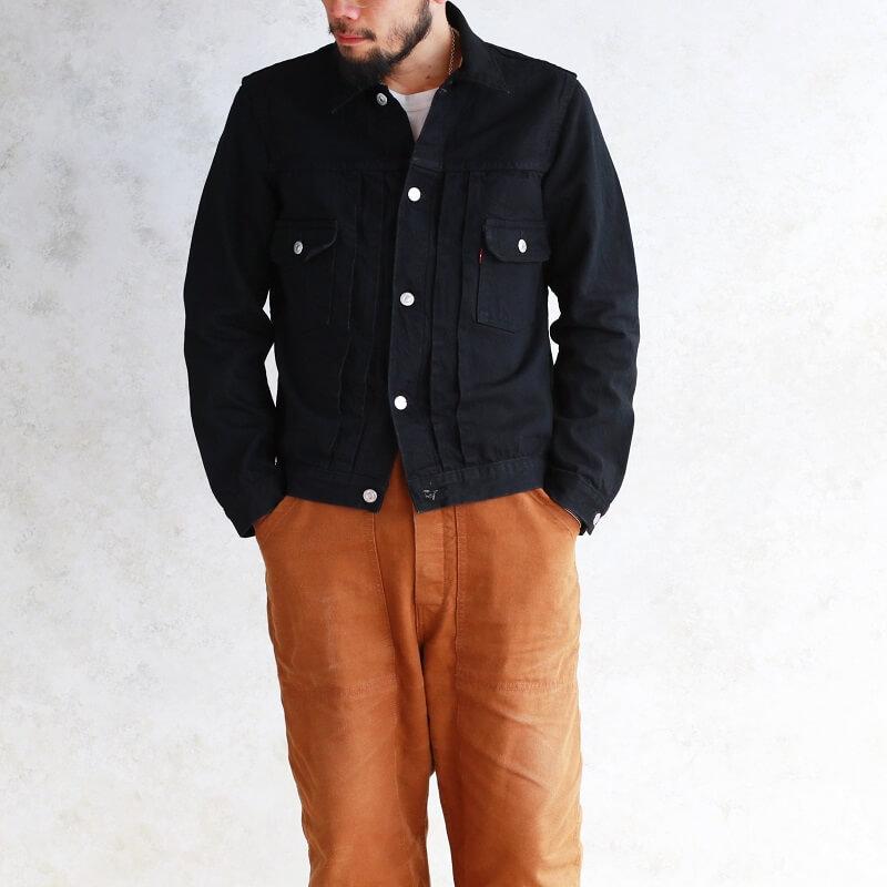 TCB jeans TCBジーンズ 50's Jacket Black & Black ブラックデニムジャケット 2nd